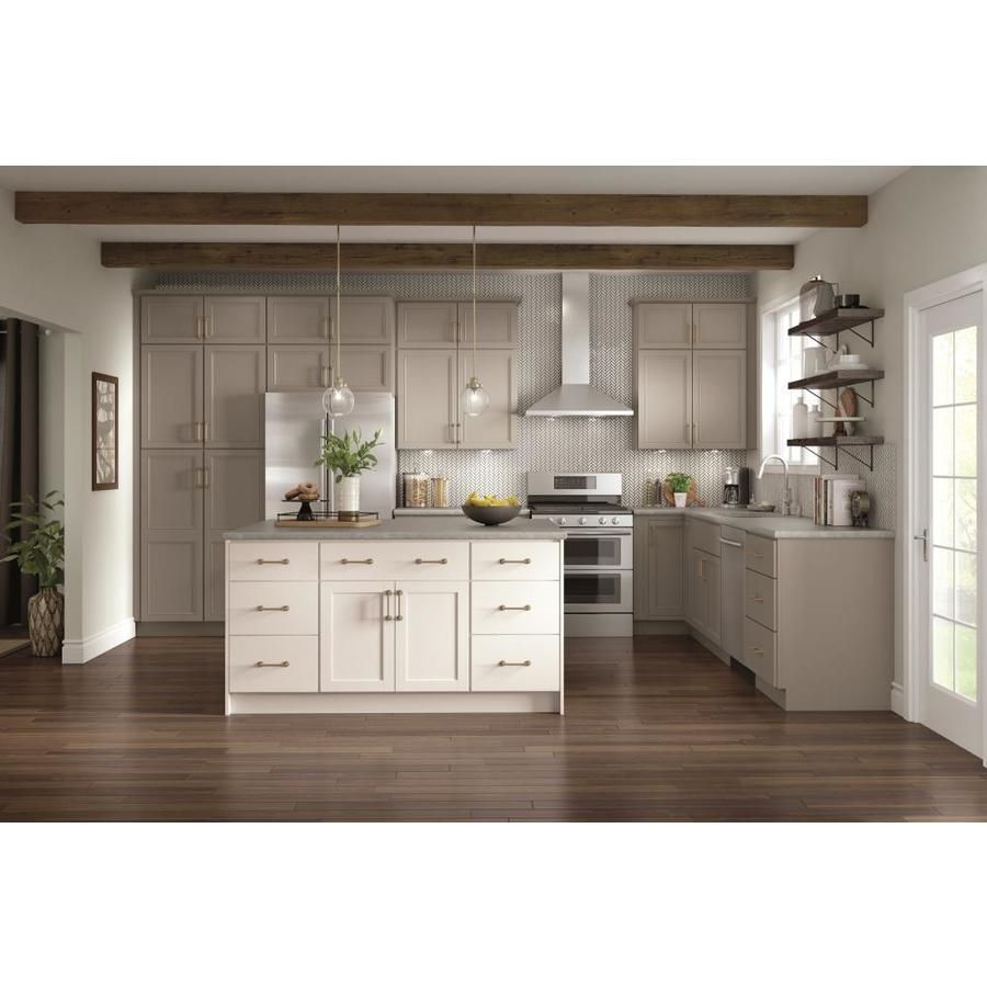 Diamond Now Wintucket 30 In W X 30 In H X 12 In D Truecolor Cloud Door Wall Stock Cabinet Lowes Com Stock Kitchen Cabinets Stock Cabinets Kitchen Remodel Cost