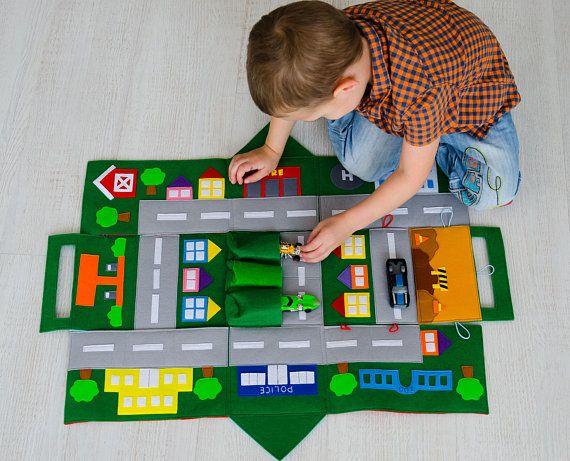 Filz Auto Spielen Matte Kinder Strasse Karte Spielen Matte Track Fur Junge Spielzeug Auto Lagerung Ruhige Zeit Matte Spiel Brett Spiel Spiel Matte Aktivitat Baby Matte