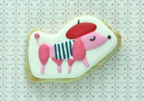 French poodle cookie