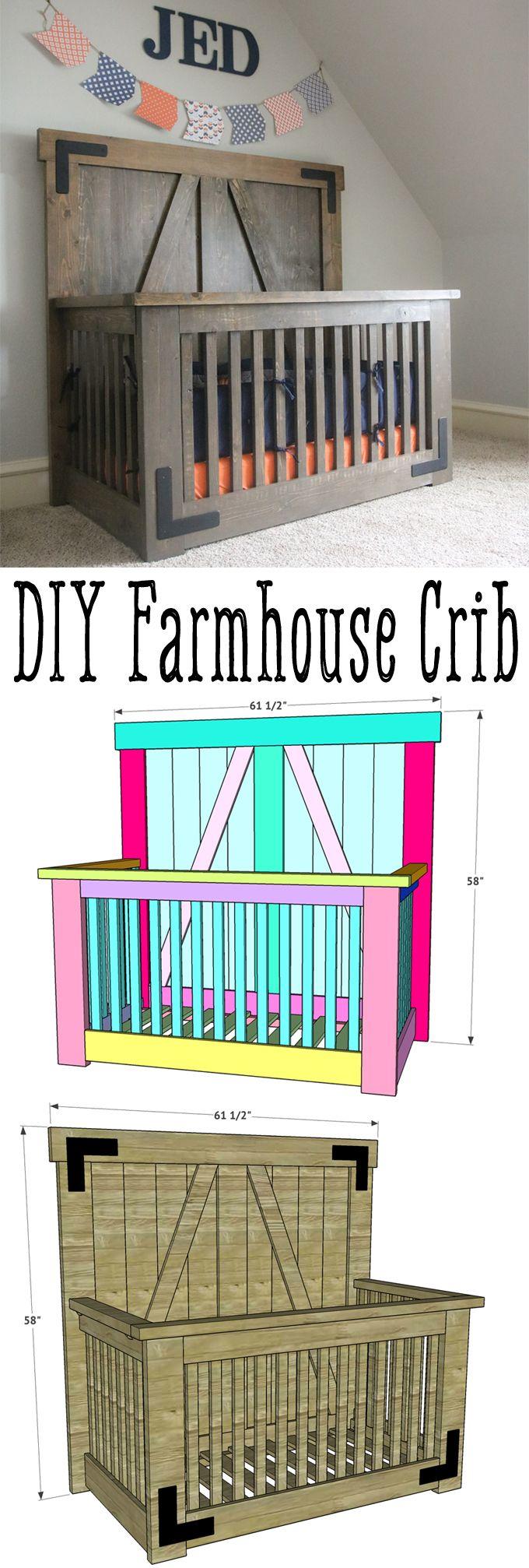 Diy Farmhouse Crib Baby Cribs