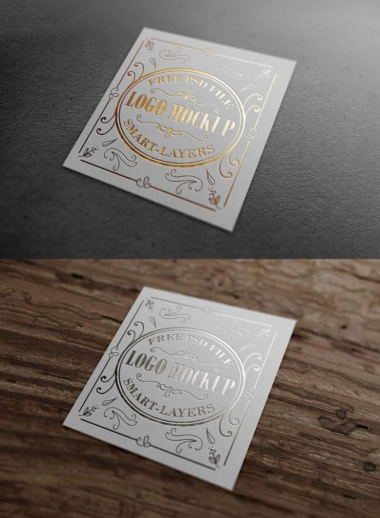 free wedding invitation psd%0A The PSD file contains two variations of gold and silver foil logo mockups  that you can use to add grandeur or luxury to your