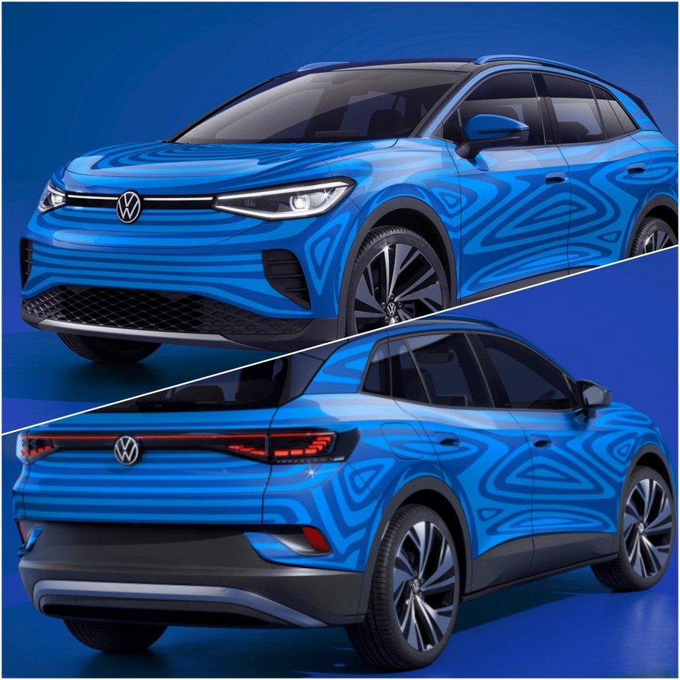 India Bound Volkswagen Id 4 Electric Suv Revealed In 2020 Volkswagen Suv Tesla Model