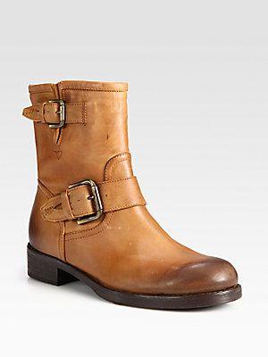 Alberto Fermani Leather Buckle Boots