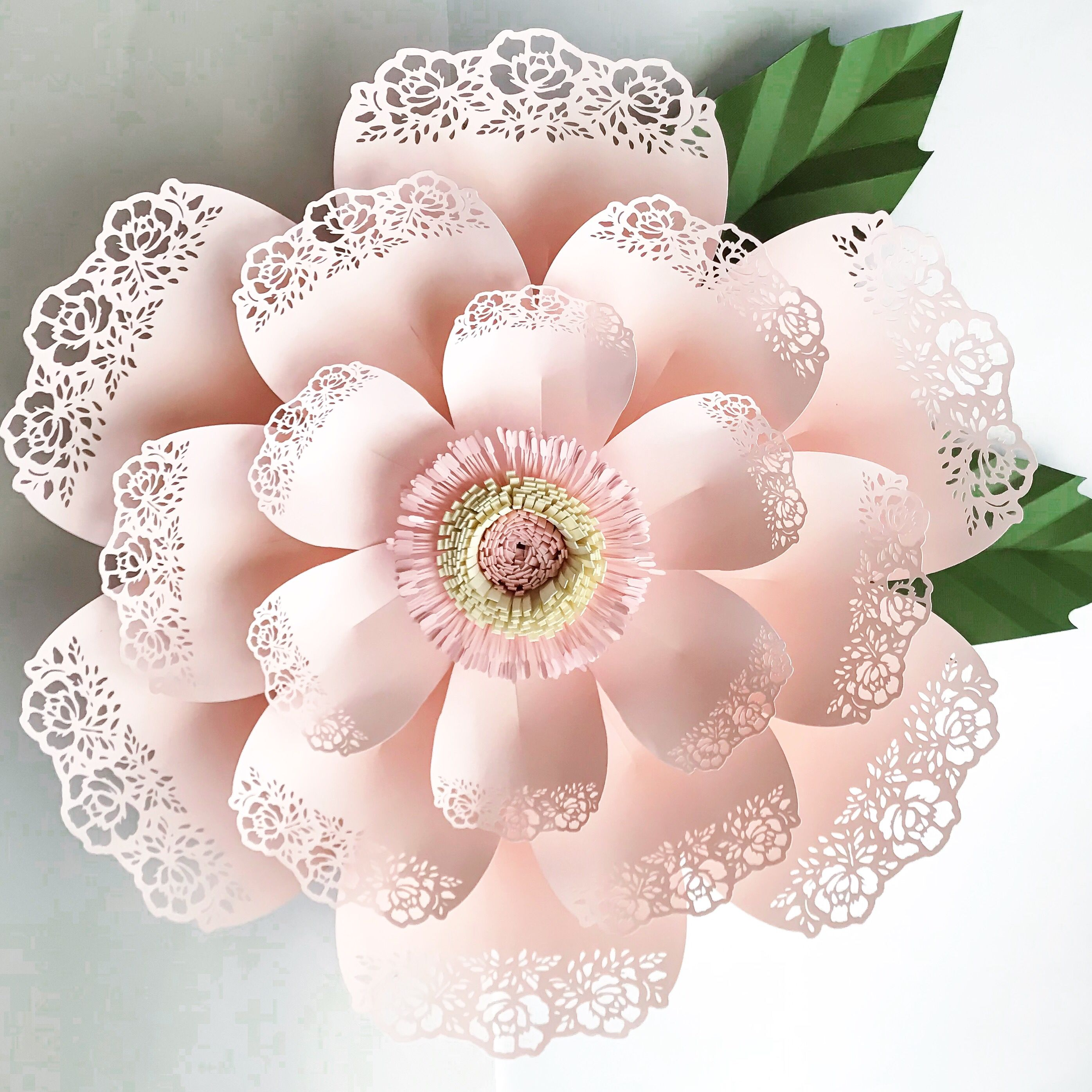 Lace Petal 5 Paper Flower Template Its Available In The Crafty