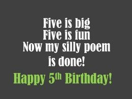 5th Birthday Messages Wishes And Poems Birthday Messages And