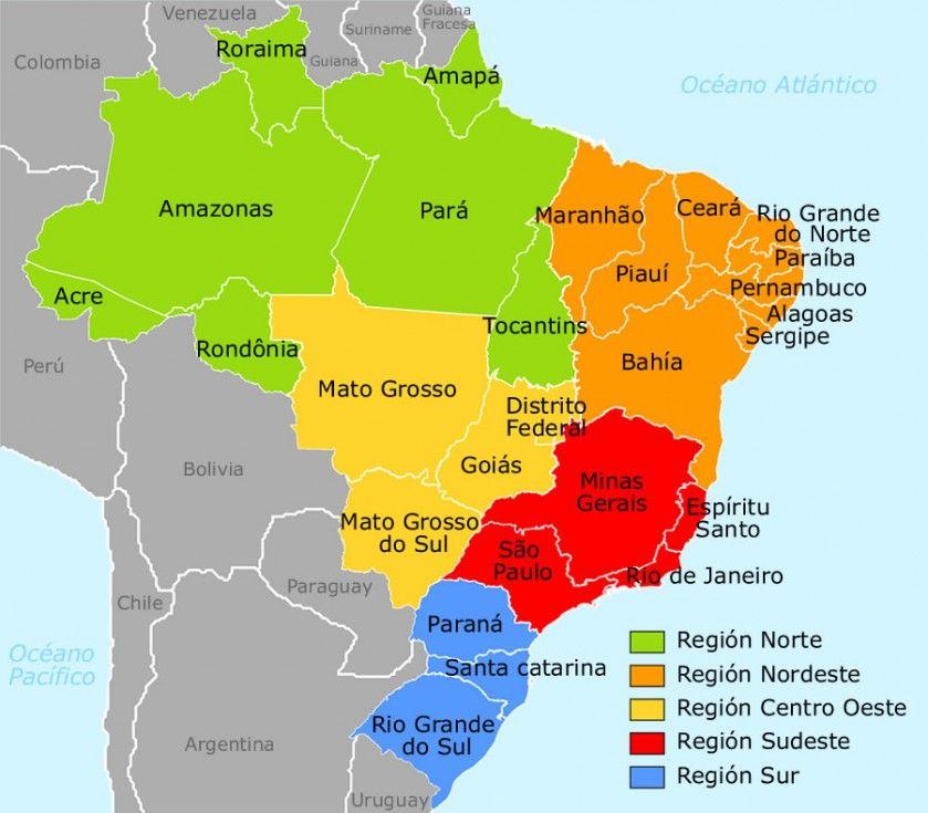 Resultado De Imagen Para Mapa De Brasil Com Imagens Mapa