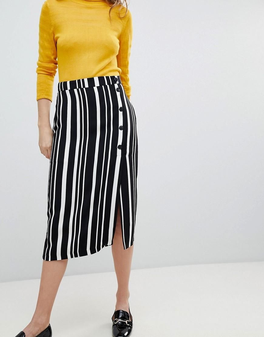 Bershka Midi Skirt In Stripe Free Shipping Sale Online 100% Guaranteed Online Very Cheap Cheap Online Buy Cheap Big Discount EI9b8QQBPR