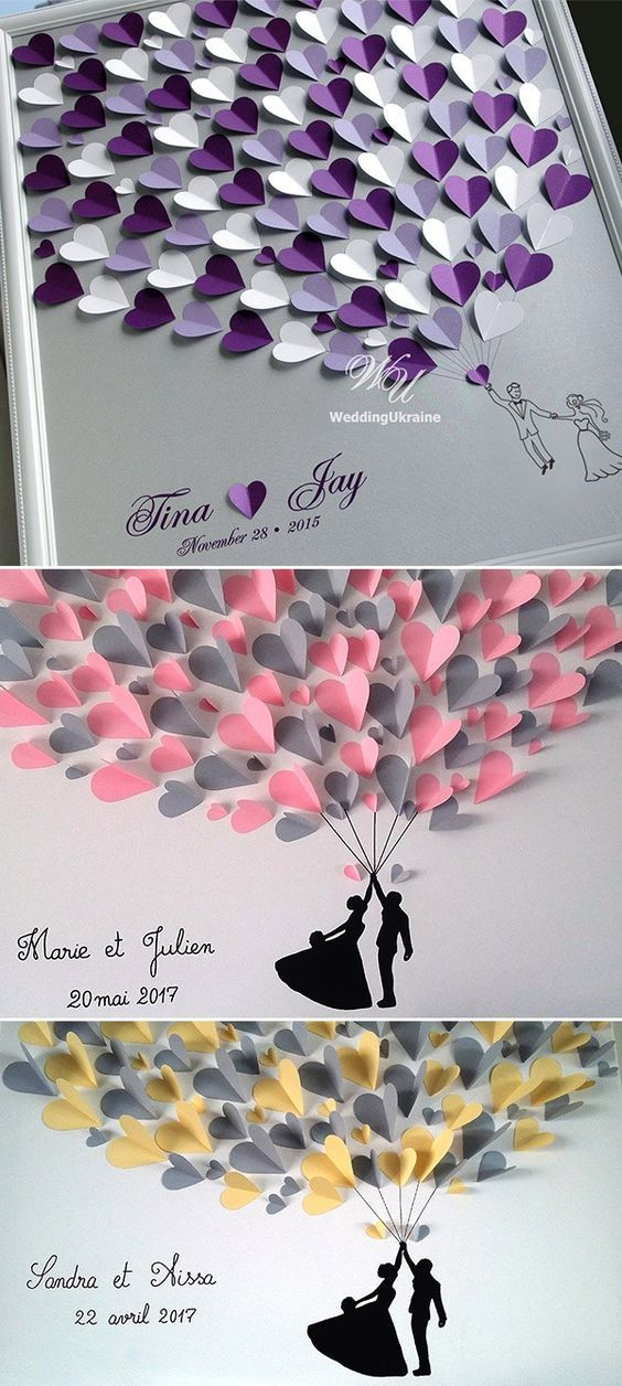 heart creative guest sign in ideas alternative wedding guest book