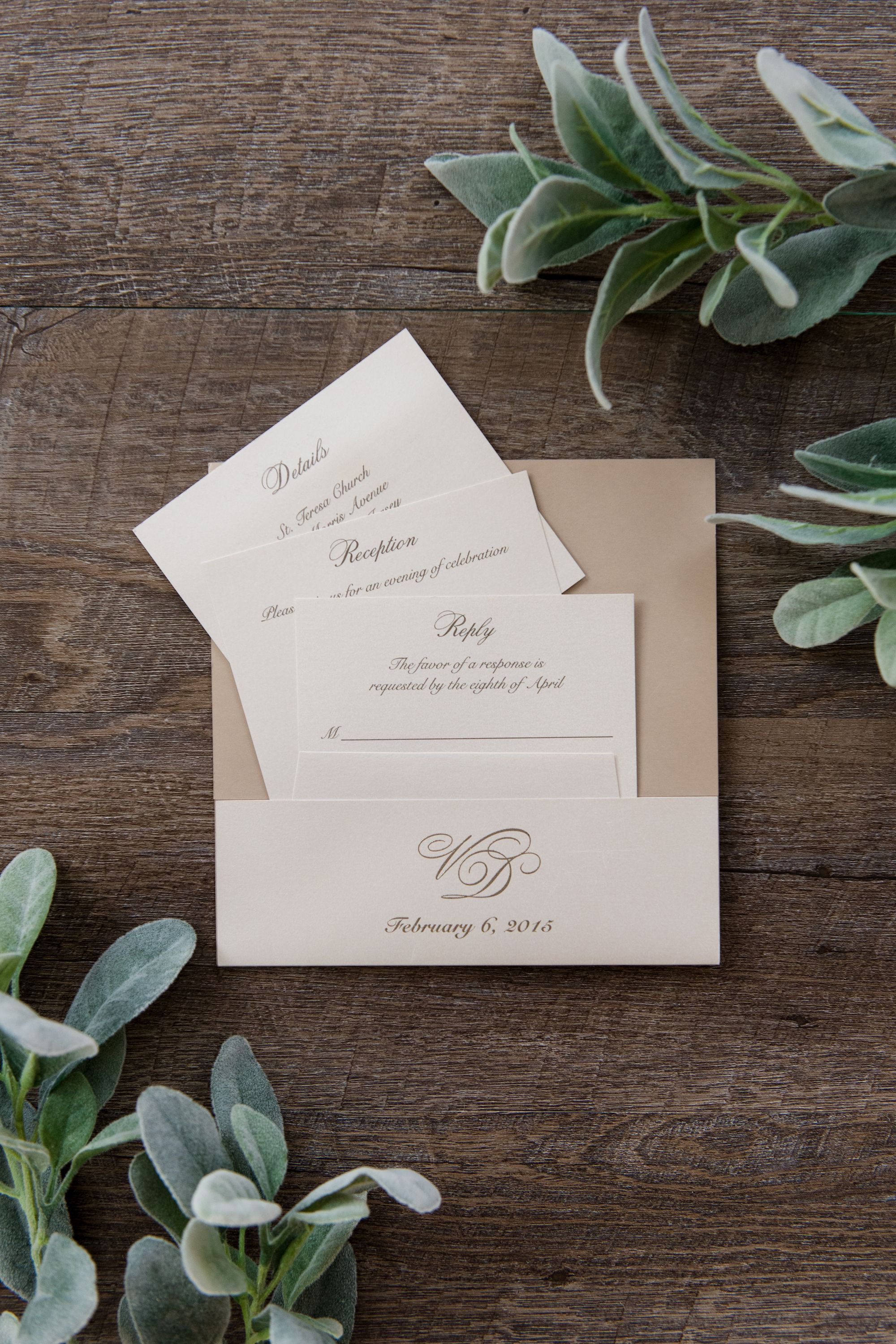 custom wedding invitations nashville%0A Custom monogram pocket to keep all of your enclosure cards and RSVP set  neatly tucked into