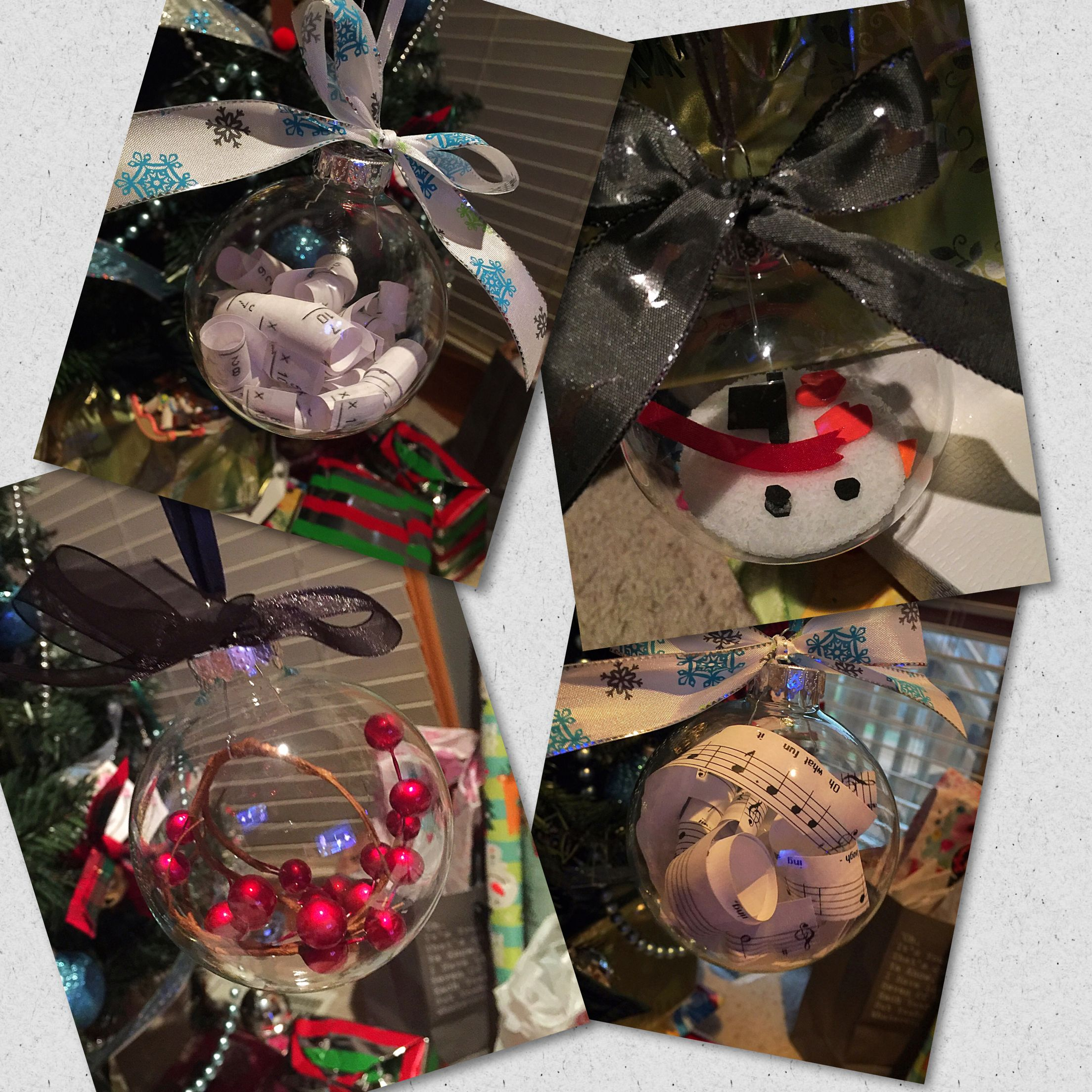 Cute homemade glass ornaments for gifts.