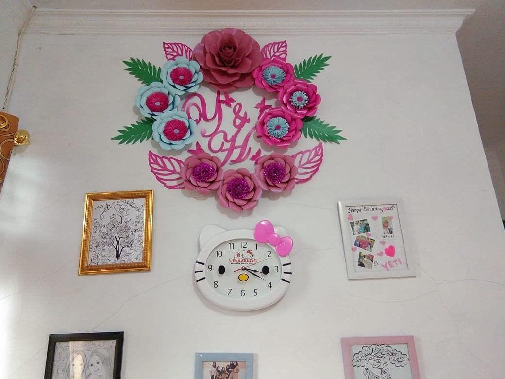 Open Order Papper Flowers Backdrop Untuk Menghias Dinding Rumah Kalian Dengan Hiasan Bunga Selain Untuk Digunakan Sebagai Hiasan Gallery Wall Decor Flowers