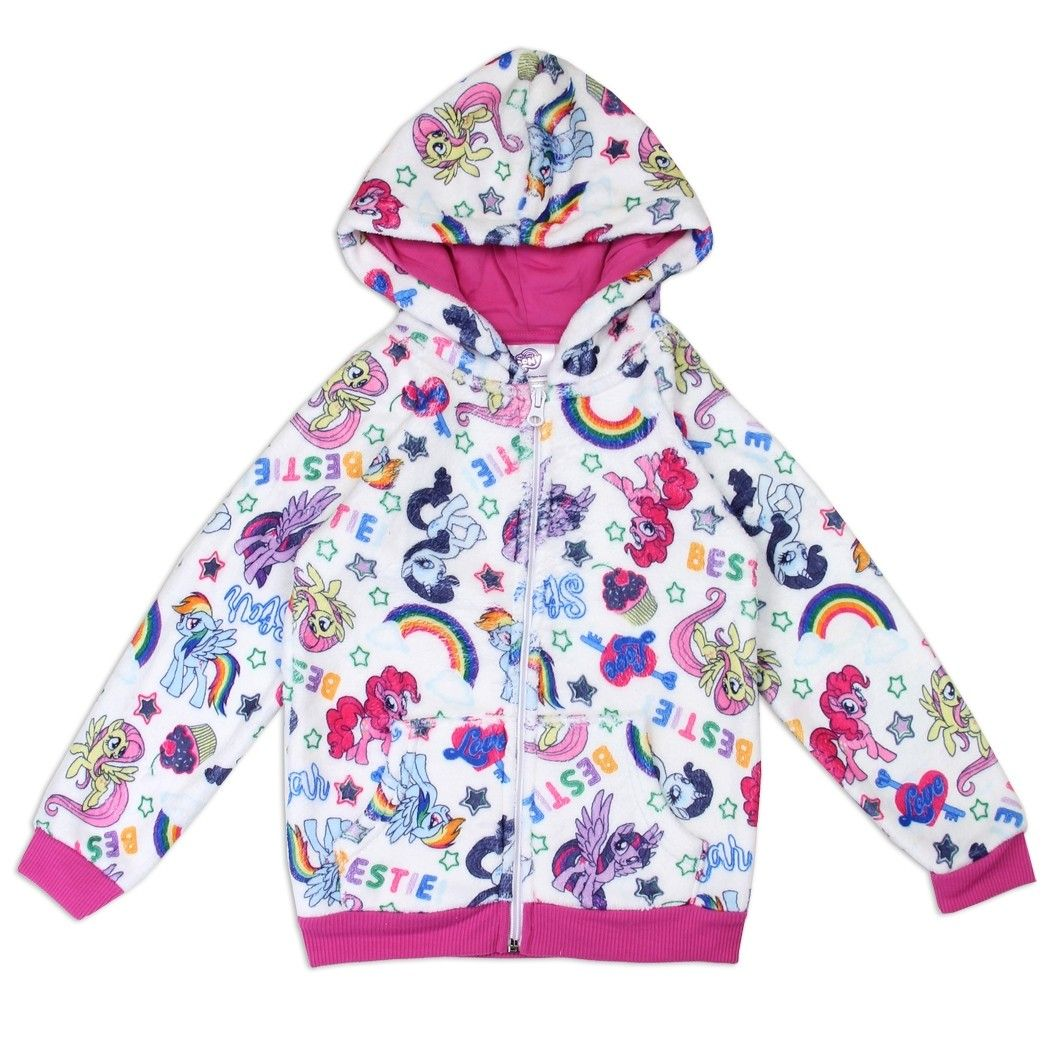 3ac513ba07 My Little Pony Woobie Plush Hoodie With Pinkie Pie, Rarity, Rainbow ...