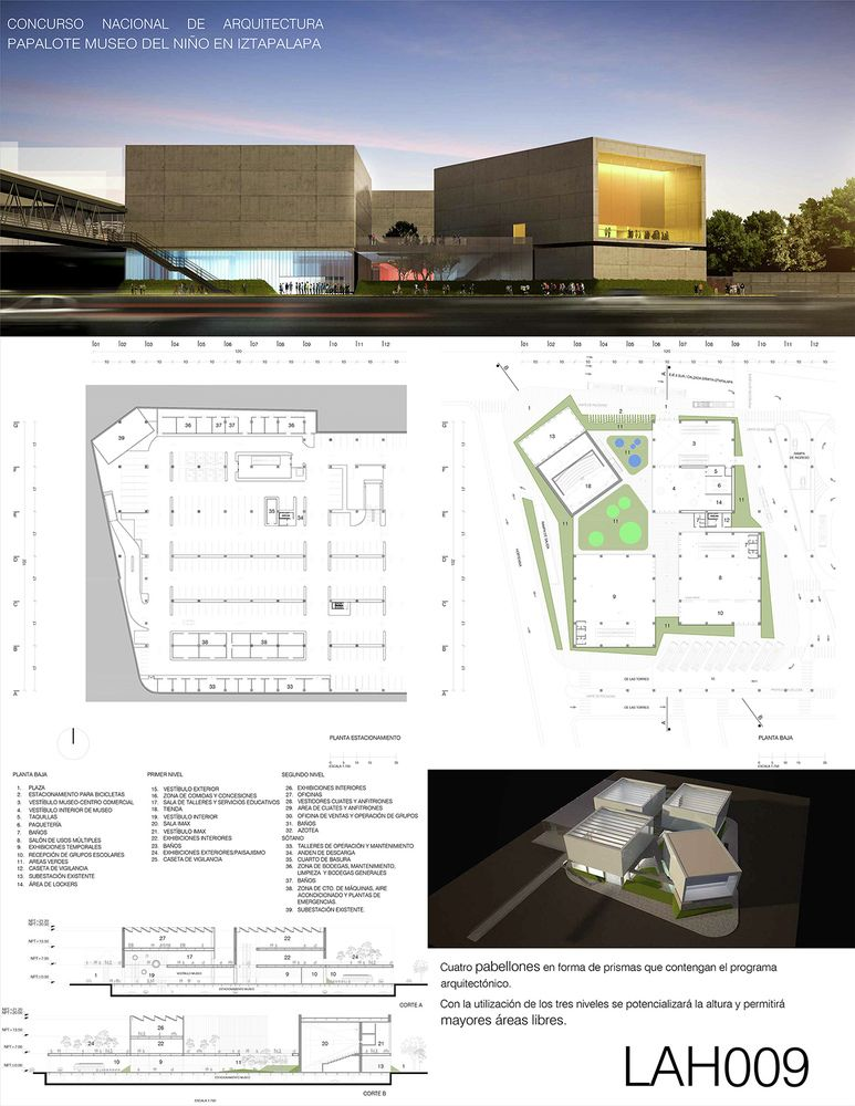 Galería - Finalistas del Concurso Nacional de Arquitectura Papalote Museo del Niño Iztapalapa / México - 13