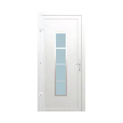 Porte D Entree Pvc Geom Deltoid Blanc 90 X H 215 Cm Poussant Gauche En 2020 Porte Entree Pvc Porte Maison Et Castorama