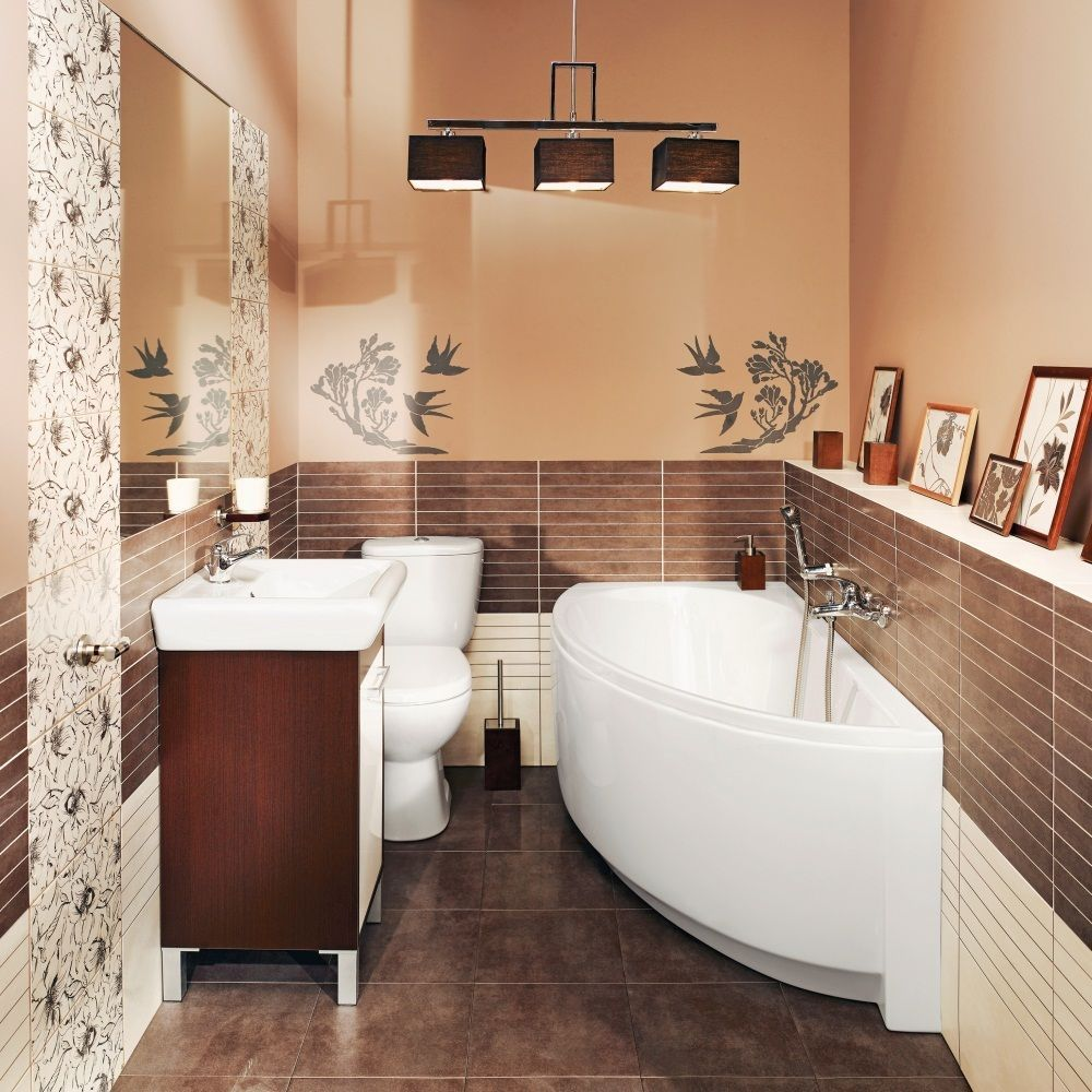 Avocado Bathroom Suite Details About Offset Corner Bath Space Saver 1500 X 750mm Incl
