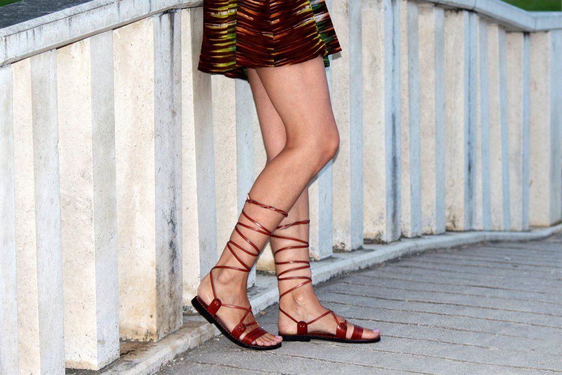 ROMAN Lace up Sandals tie up sandals ancient Greek sandals handmade flats leather sandals with imprints gladiator sandals