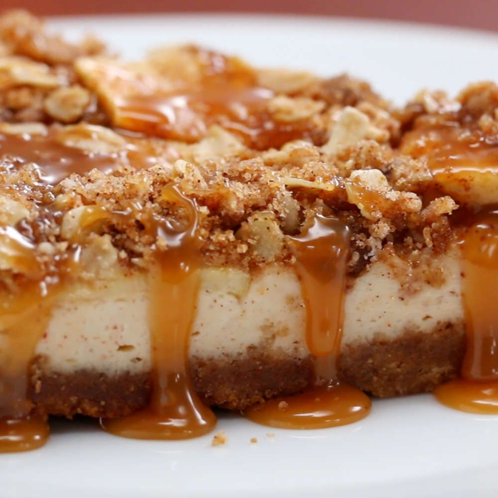 Caramel Apple Crumble Cheesecake Recipe by Tasty