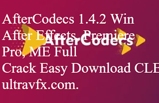AfterCodecs 1 4 2 Win (AE, PPro, ME) | FREE PLUGIN