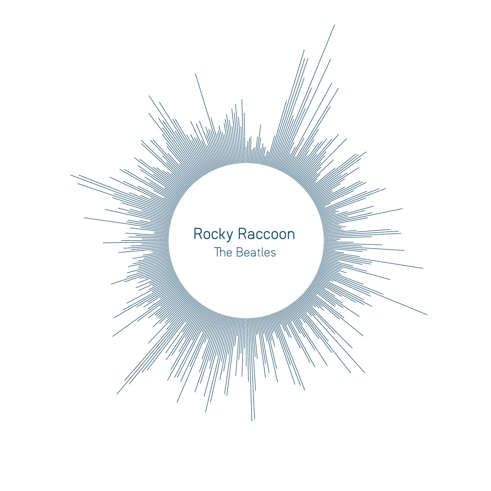 Rocky Raccoon The Beatles Circular Pattern Concept Design Rocky Raccoon