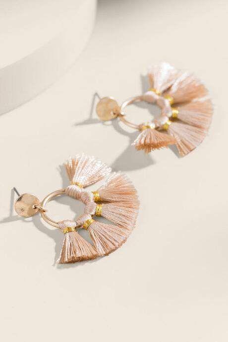 ac2f705e5 Brenna Circle Tassel Earrings in 2019   Products   Tassel earrings ...