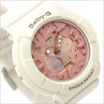 6698a0d6ea67 Casio Baby-G Shell Pink Neon Illuminator Alarm Watch BGA-131-7B2, BGA131