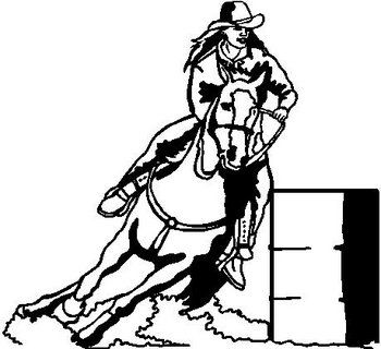 barrel racing horse coloring pages google search - Horse Trailer Coloring Pages