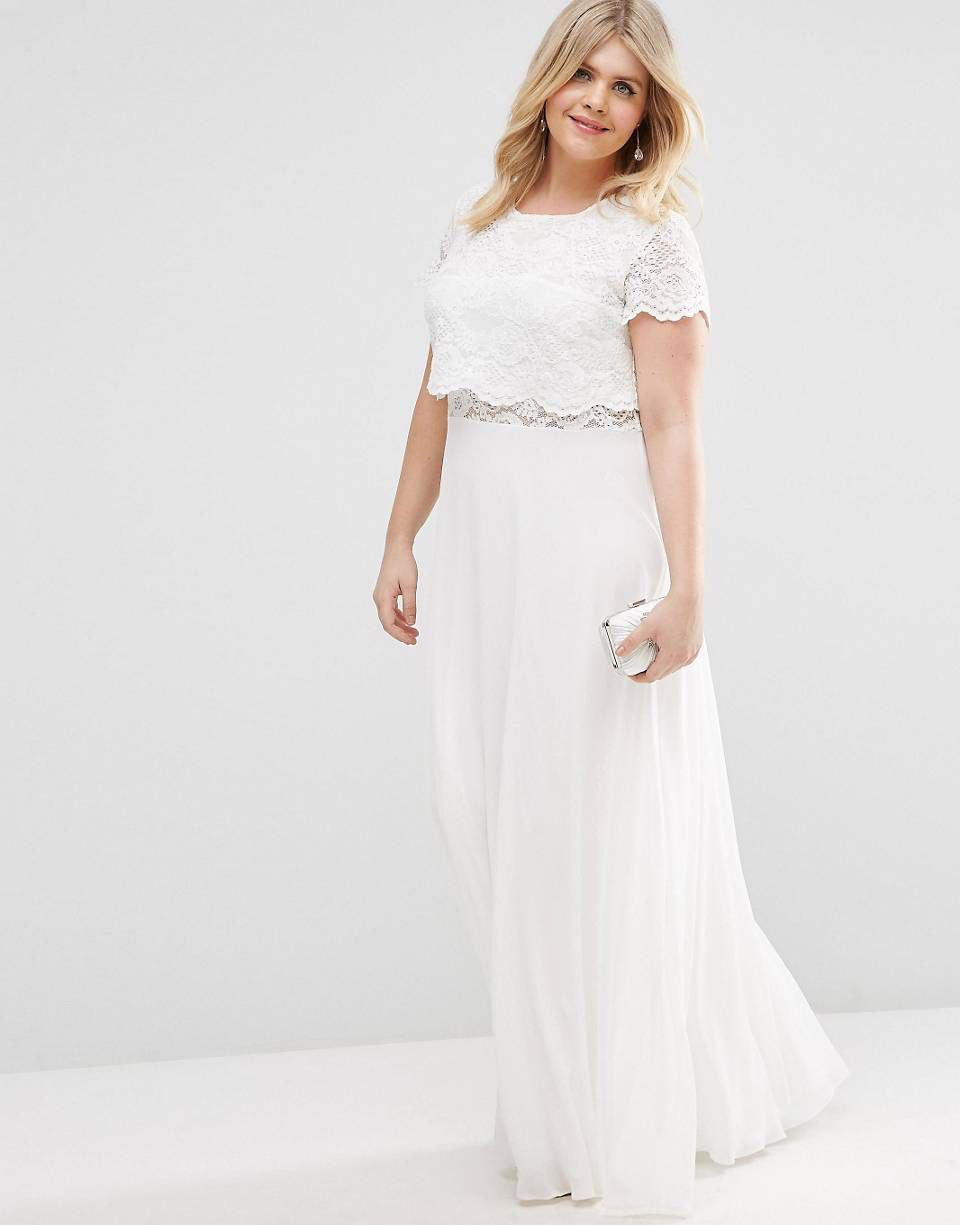 ASOS CURVE Maxi Dress with Lace Crop Top | Things I Could Actually ...