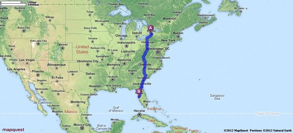 Driving Directions from Niagara Falls United States to Tampa