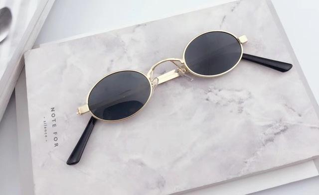 1d40eb9ca9 Sella 2018 New Classic Retro Fashion Small Oval Alloy Frame Sunglasses  Popular Men Women Round Tint