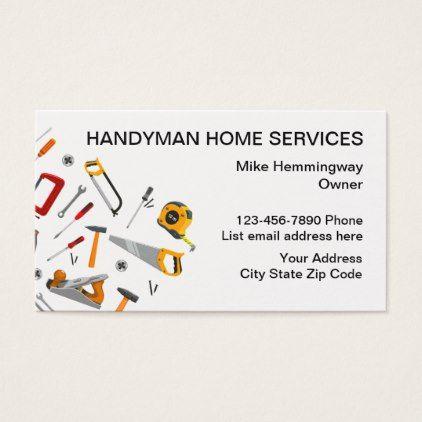 Handyman Professional Design Business Card Zazzle Com Business