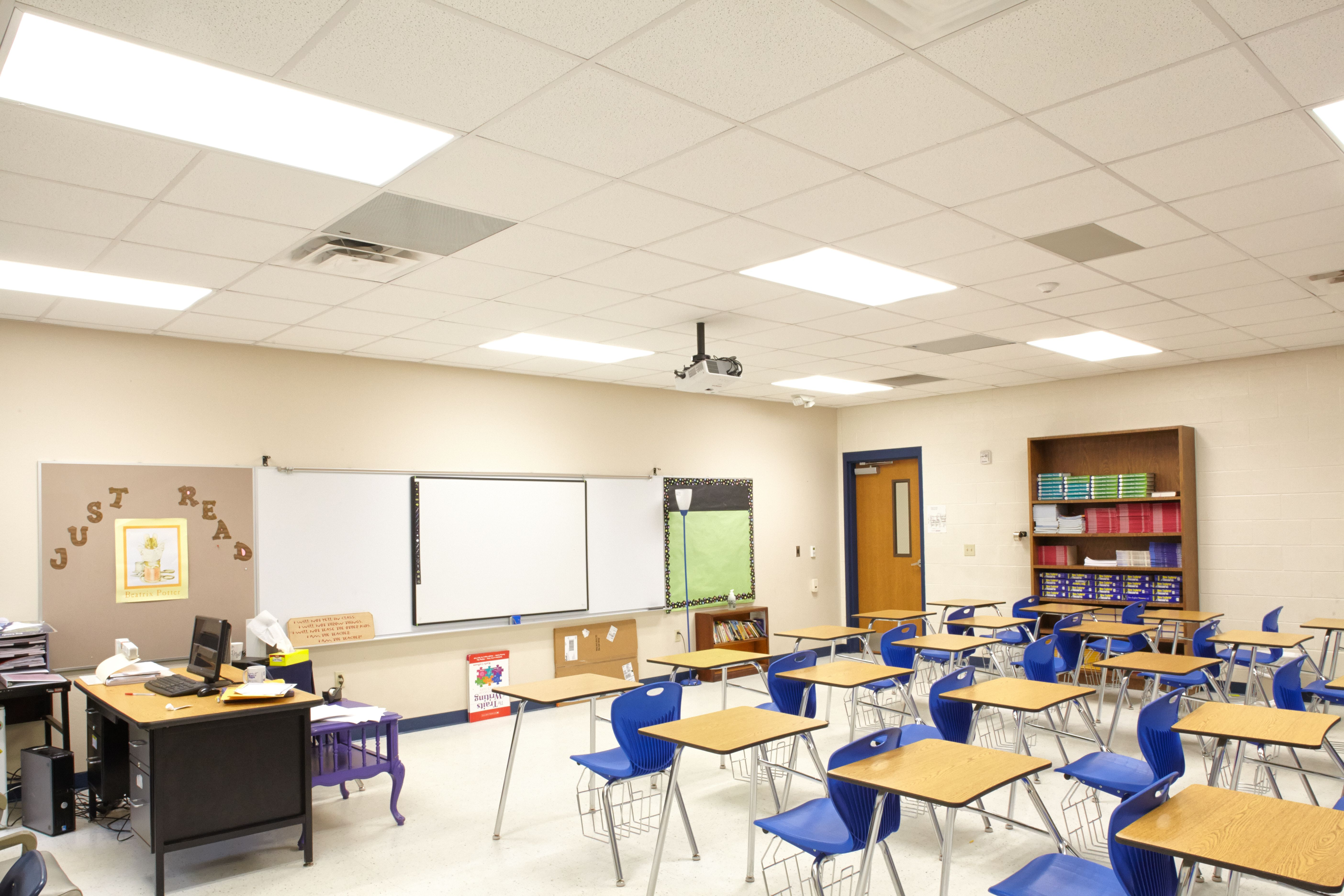 Led Tube Retrofit In Classrooms At Big Sandy School Education Home Help Kids Learn