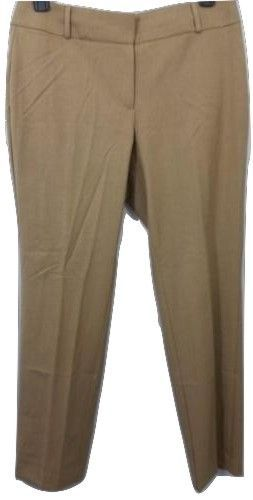 Ann Taylor Loft Julie Straight Ladies Tan Brown Pants Regular Size 10