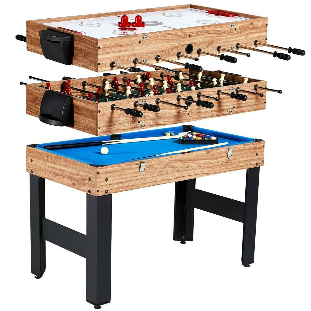 Multi Game Table Combo 3 In 1 Pool Billiards Air Hockey