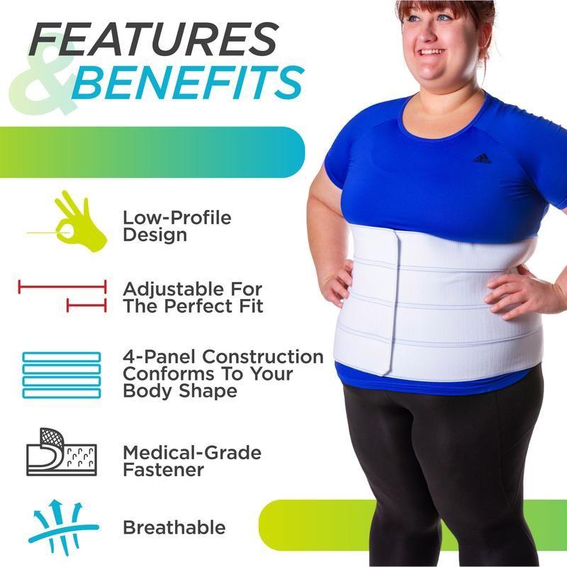 Plus Size Bariatric Abdominal Binder & Stomach Support