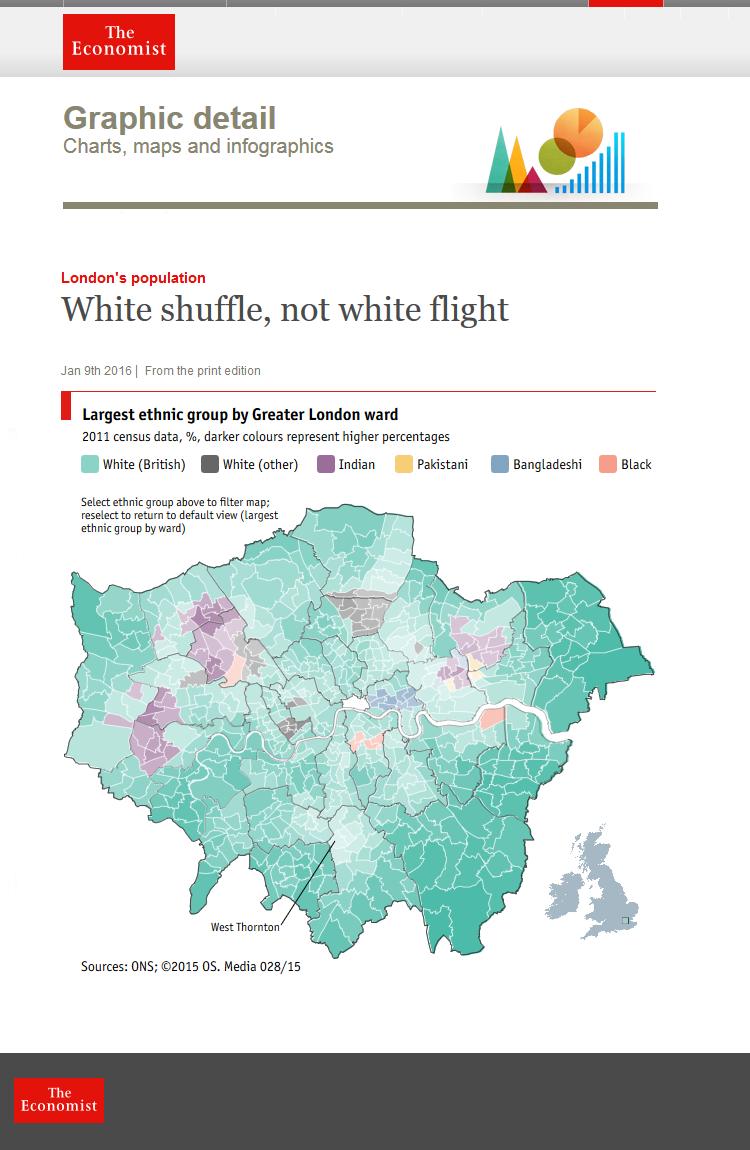 "London's population ""White shuffle, not white flight"