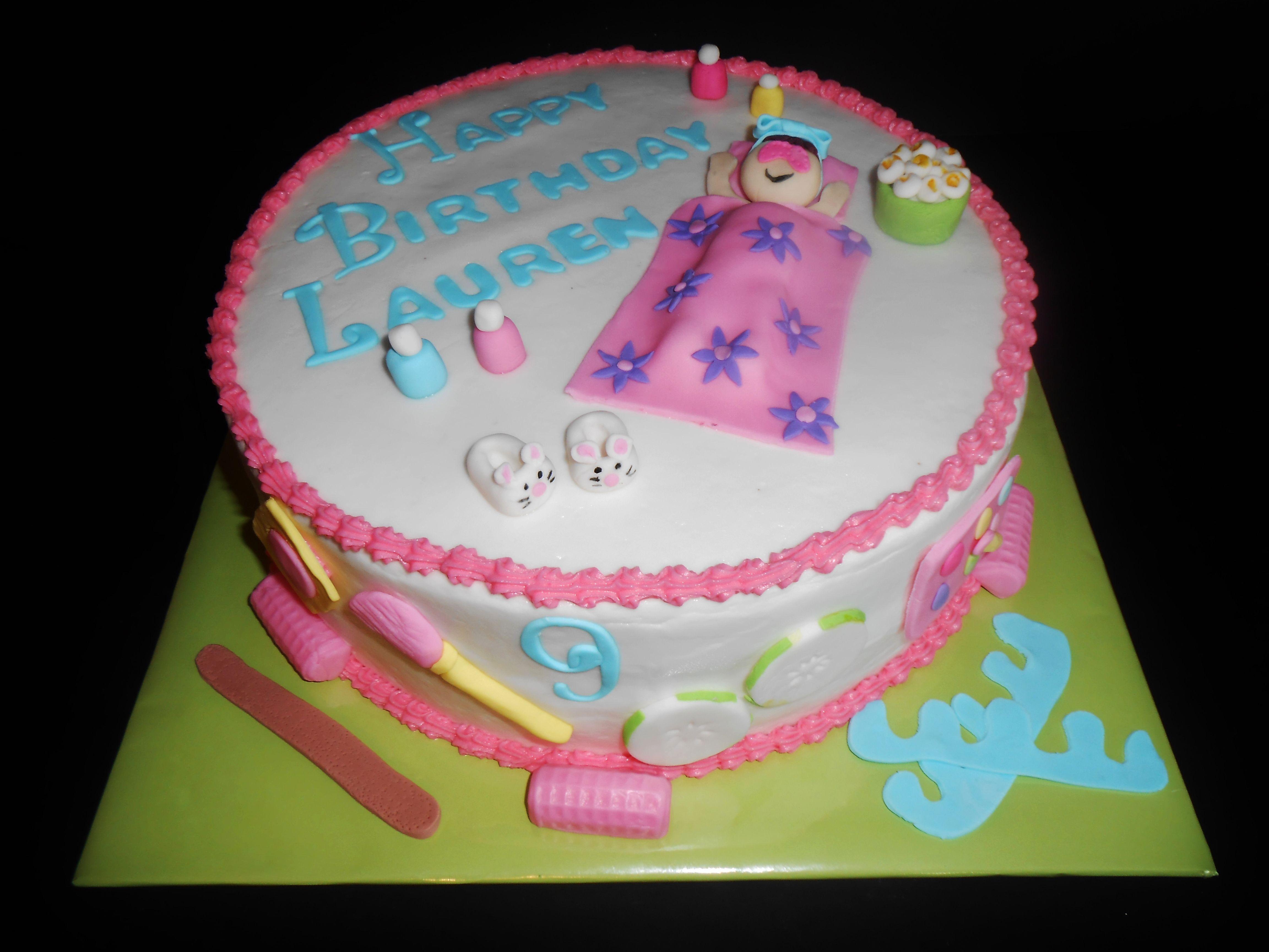 SLUMBERSPA PARTY CAKE Slumber Party Pinterest Spa Party - Spa birthday party cake