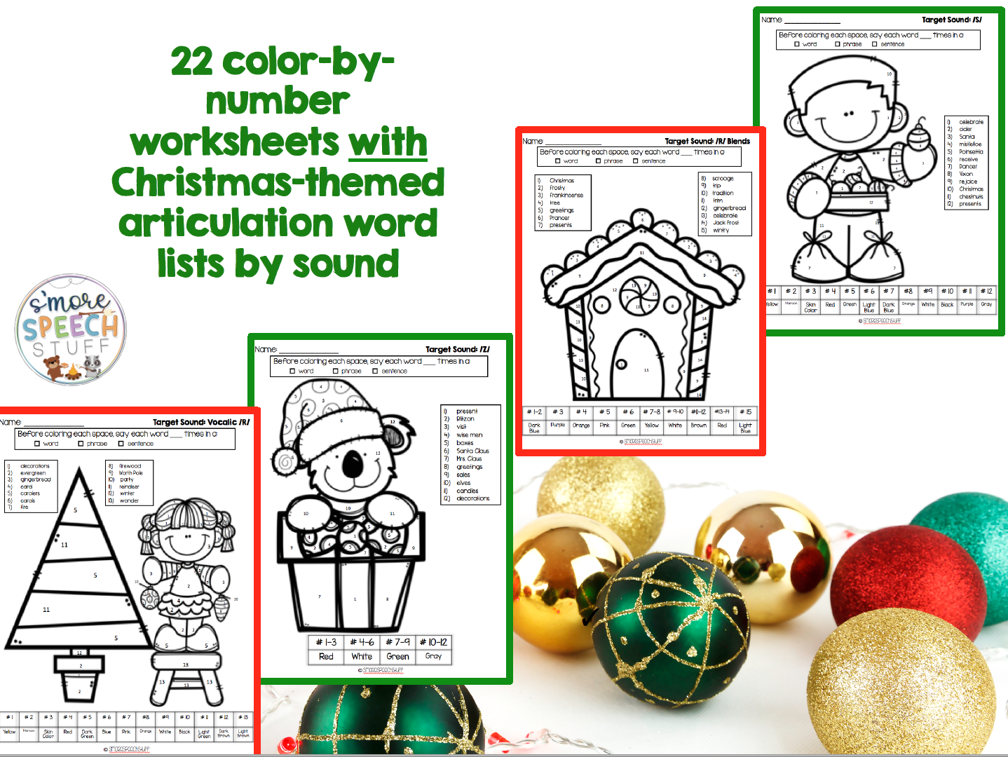 Christmas Articulation Activities Bundle
