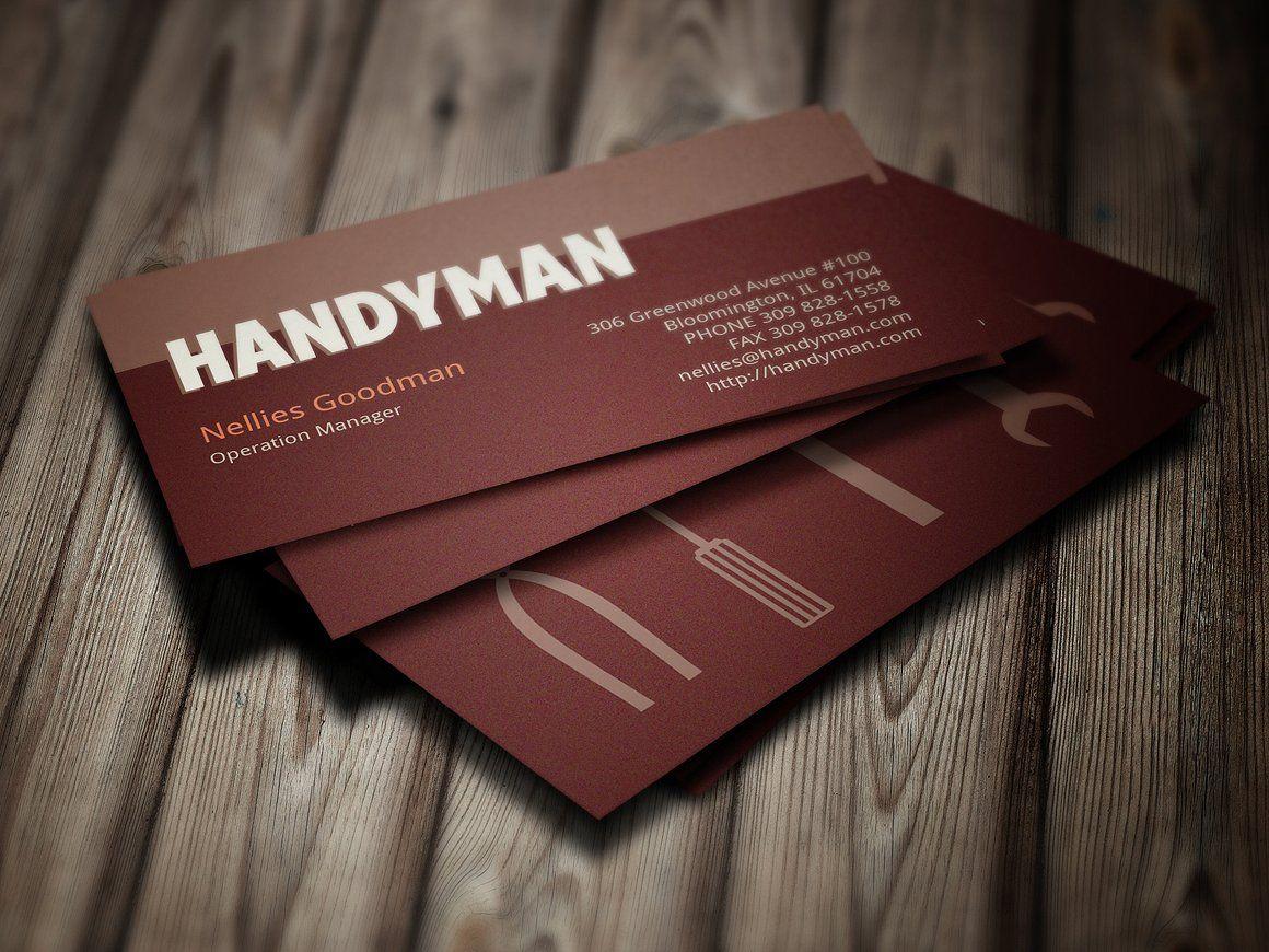 Handyman Toolkit Business Card Handyman Business Business Cards