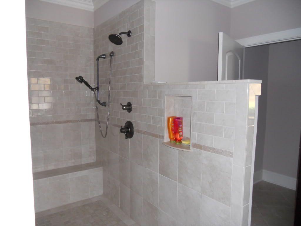 No Door Shower Opinions Bathrooms Forum Gardenweb Doorless Shower Bathroom Remodel Shower Shower Tile