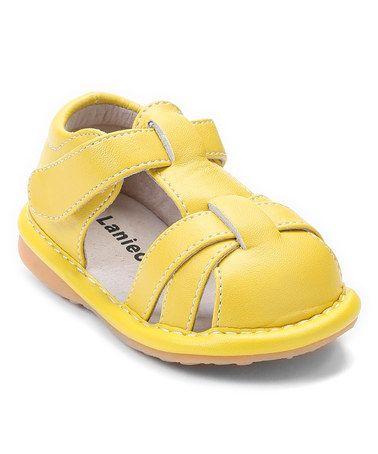 ccadd7902f Laniecakes Yellow Ava Closed-Toe Squeaker Sandal