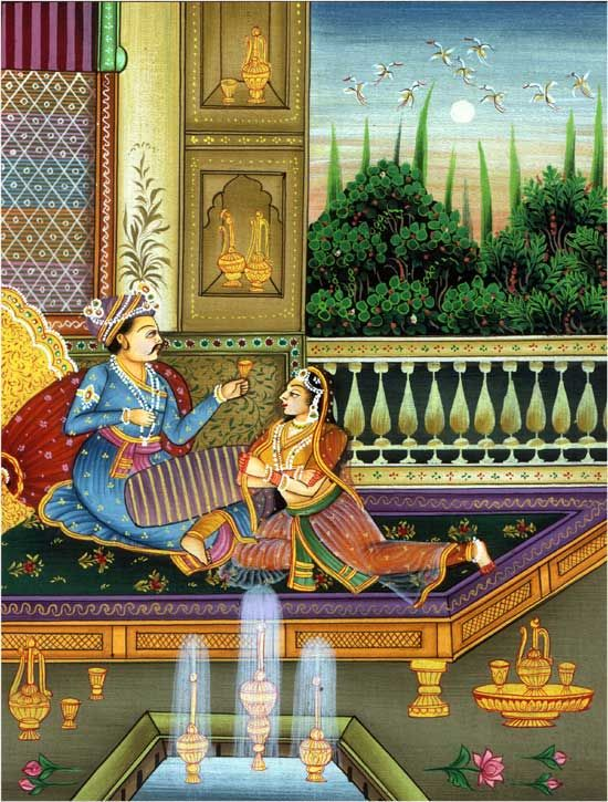 Mughal Paintings Mughal paintings of India date back to the period between the 16 th and 18 th century, when the Mughals ruled a large part of the country.The art of Mughal painting was introduced by the Mughal emperor Humayun.