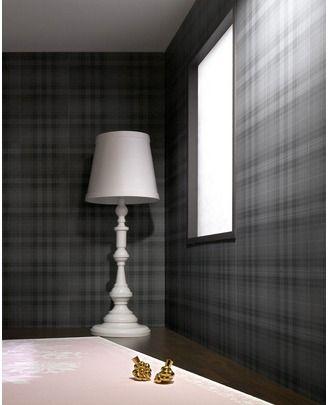$59.50  Audrey : Charcoal Wallpaper