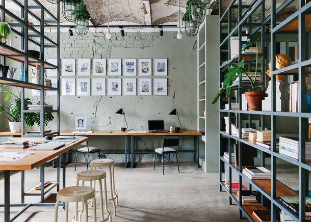 Офис на заводе \u201cКристалл\u201d Art studios, Studio and Interiors