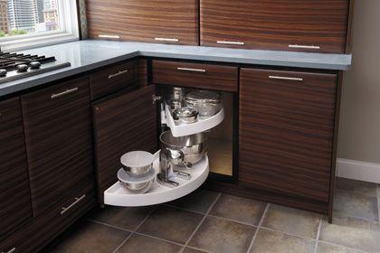StarMark Cabinetry Blind Corner with Revolving Shelves ...