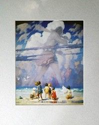 498a4b8521d Giant matted art print by N.C. Wyeth has a total size of 8 x 10 ...
