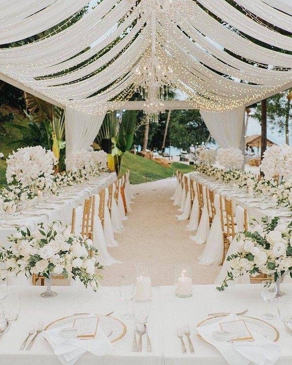 célébration de mariage tente simple et vert # mariage # mariage # idées de mariage #g ….   – Hochzeit