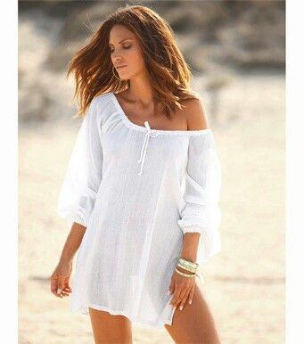 Vestidos de playa blanco