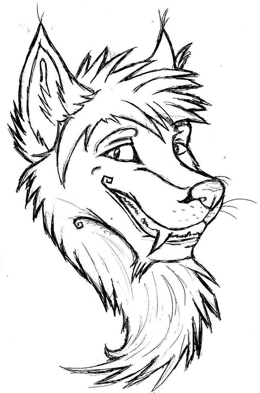 Wolf Head Outline images Art dessin, Dessin, Art