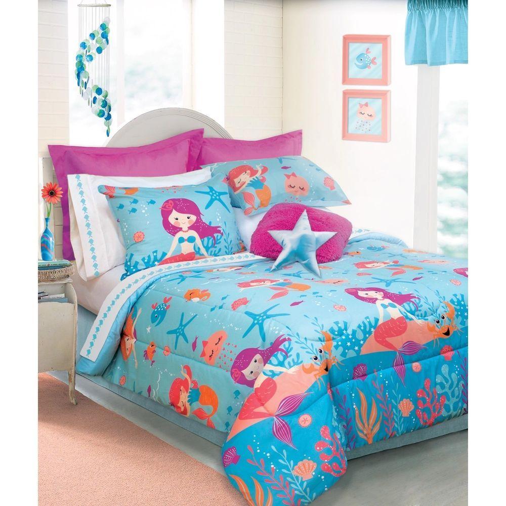 Mermaid 3piece Comforter Set Full/Queen Mystical Fantasy