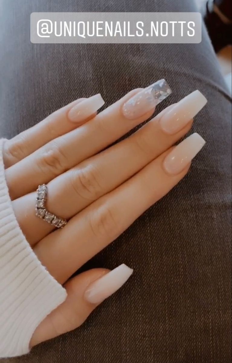 47+ Clear to white ombre nails ideas in 2021